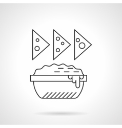 Nachos icon flat thin line icon vector
