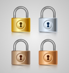 Padlock icons vector image vector image