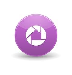 Picasa icon simple style vector image vector image