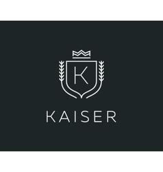 Premium monogram letter k initials ornate vector