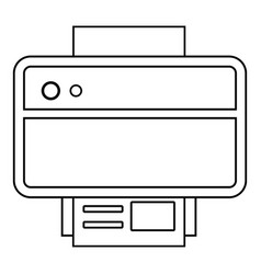 printer icon outline line style vector image