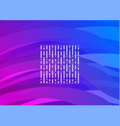 purple-blue futuristic digital wave vector image