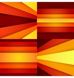 Red orange and yellow paper layers abstarct vector