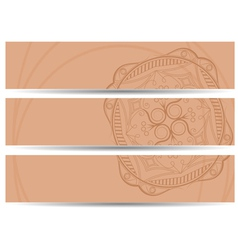 set of horizontal banners hand drawing EPS10 vector image vector image
