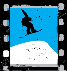 snowboarding film vector image
