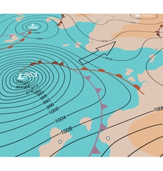 Storm depression chart vector image vector image