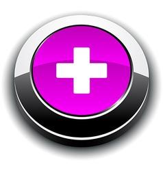Switzerland 3d round button vector image vector image
