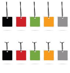 tag set empty sale in color vector image vector image