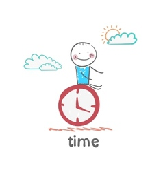 time vector image vector image