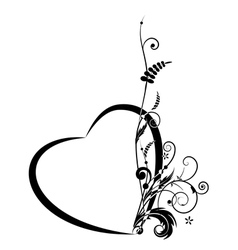 Valentine floral banner vector