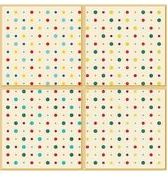 Vintage polka dot texture background vector image vector image