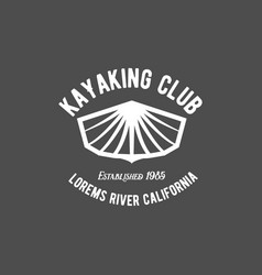Vintage rafting label vector