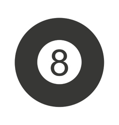 Ball number eight billiard icon vector