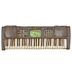 Electronic piano or synthesizer vector