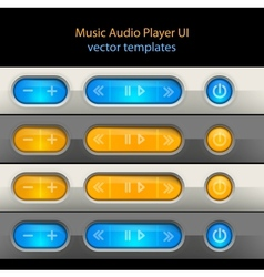 Media player control elements vector