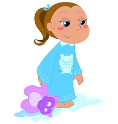 Girl with teddy vector image
