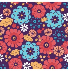 Colorful bouquet flowers seamless pattern vector