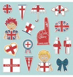 England supporter stickers vector