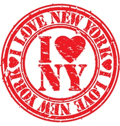 I love new york stamp vector