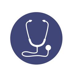 Stethoscope medical symbol vector