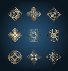 Collection of elegant brand designs vector