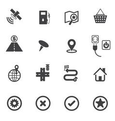 map icons set navigation vector image