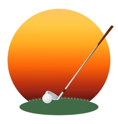 Golf club and a ball vector