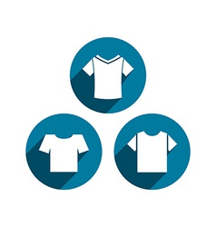 Man t-shirt icon set vector
