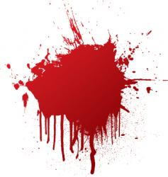 blood splat vector image
