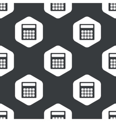 Black hexagon calculator pattern vector