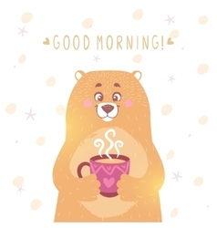 Bear tea vector