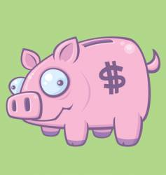 piggy bank vector image
