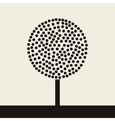 round tree vector image