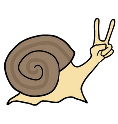Winner happy snail vector