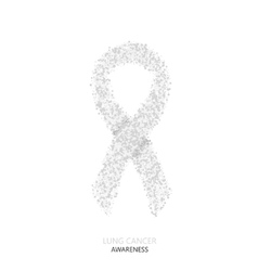 Modern lung cancer awareness circles vector