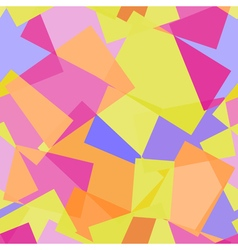 Abstract polygonal yellow and pink seamless vector image vector image