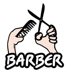 Barber sign vector image vector image