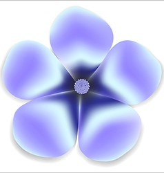 Blue gentle flower natural vector