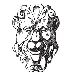 Chubby grotesque mask was designed during the vector