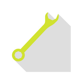 Crossed wrenches sign pear icon with flat style vector