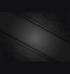 Geometric black triangle abstract background with vector