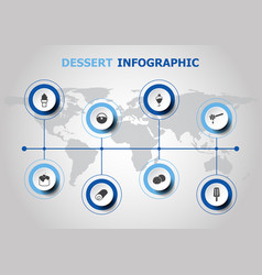 Infographic design with dessert icons vector