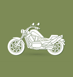 Motorbike side view graphic vector