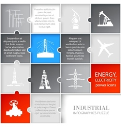 Oil icons infographic vector image