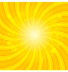 Orange Sun hypnotic background vector image