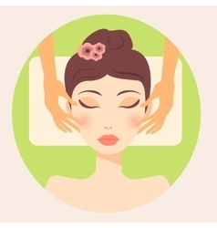 original trendy girl facial massage vector image vector image