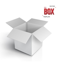 Realistic Open Box EPS10 Paper Box vector image vector image