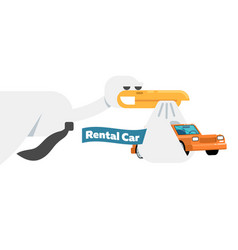 rental business conceptual icon with stork vector image