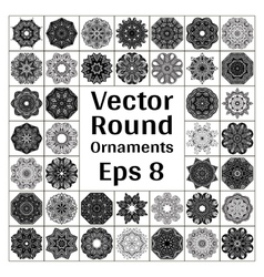 Round ornaments collection vector