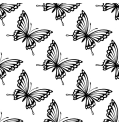 Seamless pattern of flying butterflies vector image vector image